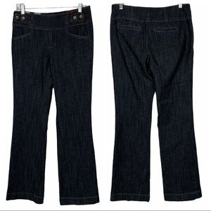 One 5 One Trouser Dark Wash MidRise Flare Jeans 6